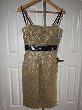 D&G Dolce & Gabbana Gold Floral Lace Dress size 40 4