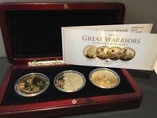 More details for london mint great warriors golden crown set