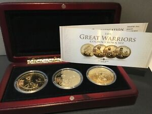 London Mint Great Warriors Golden Crown Set