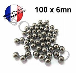 100 billes acier carbone - Ø 6 mm - Ammo Pour lance pierre  ou autre utilisation