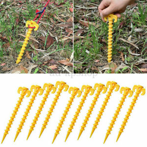 Tent Pegs Screw In Hard Standing Ground Drill In Caravan Camping Tent Awning Peg