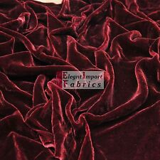 "SILK RAYON VELVET SOLID FABRIC 45""W COSTUMES, APPAREL,UPHOLSTERY 35COLOR BY YARD"
