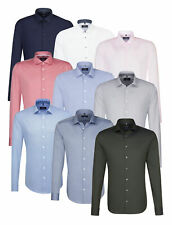 Seidensticker Herren Herrenhemd Langarm Business Hemd Tailored Kent Divers 03