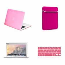 "4 IN 1 Macbook Air 13"" Pink Rubberized Hard Case + Keyboard Cover + LCD + Bag"