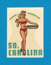 """VINTAGE ORIGINAL 1946 """"MISS SOUTH CAROLINA"""" STATE PINUP GIRL TRAVEL WATER DECAL"""