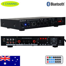 5 Channel Stereo Bluetooth Power Amplifier HiFi LED Digital  FM Home Karaoke Amp