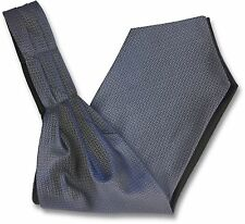 Mens 'Under Shirt' Cravat Tie Ascot with Blue and Grey Scatter Pattern