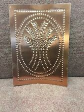 4 Punched COPPER Panels ~ Handcrafted Vertical Rustic Country Wheat