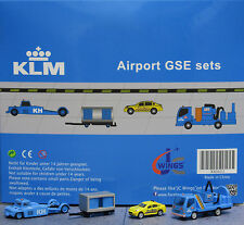 KLM GSE set JC 1:200 Airport Scenic Series Ground Services Equipment     XX2022