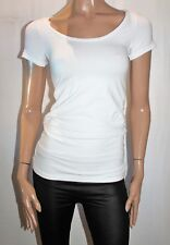 soon Melbourne Maternity White Short Sleeve Scoop T-Shirt Size XS BNWT #TM105