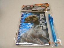 New kids Jurassic World Blue stationery set w/ pen back to school kids 8+