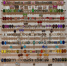 100 Wholesale Job Lot European Charms Rhinestone Enamel Silver Jewellery Making