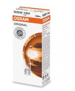 Osram W5W T10 12V Car Base W2.1x9.5d Wedge Globe Bulb (Pack of 10)