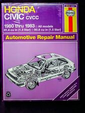 Haynes Honda Civic CVCC Automotive Repair Manual 1980 to 1983 SEALED NEW