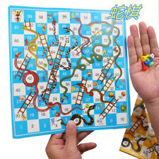 Snake and Ladder Board Game Portable Flight Chess Set Family Party Toys for Kids