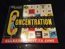 "CHAD VALLEY ""CONCENTRATION"" BOARD GAME, UNUSED! (GRANADA TV, 1959)"
