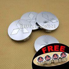 4 Silver Wheel Center Hub Cap Badge Cover Logo for Car Alloy Rim US seller