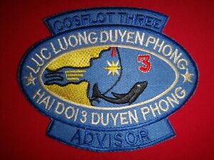 Vietnam War Patch US Navy COSFLOT THREE ADVISOR