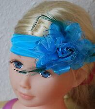 Charleston Haarband Charlestonband Stirnband Kopfband Federn Fascinator Paris