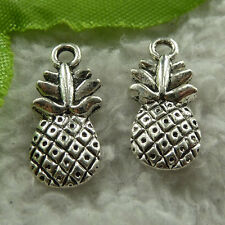 free ship 120 pcs tibet silver pineapple charms 19x9mm #4009