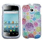For Huawei Ascend II 2 M865 Crystal Diamond Bling Case Cover Rainbow Bubbles