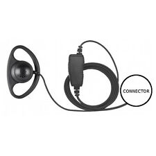 1-Wire D-Ring Earpiece Microphone Inline PTT for HYT TC-610P 700P 780 780P 780M