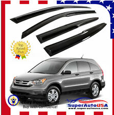 Fit 2007- 2011 Honda CRV  CR-V 3D JDM MUGEN STYLE SMOKED WINDOW VISOR VENT SHADE