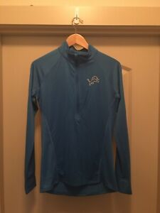 NWT Women's Small Under Armour Detroit Lions Combine 1/4 Zip Pullover (F2)