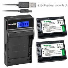 Kastar FV50 Battery&charger for Sony HDR-PJ50 PJ200 PJ230 PJ260V PJ50 PJ340