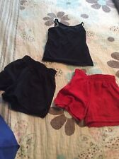 Girls XS Size 4 Soffe Shorts Lot with cami