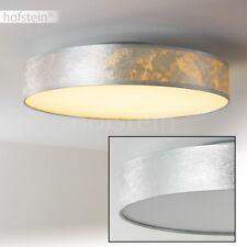 LED Design Deckenlampe Küchen Flur Lampen Wohn Zimmer Leuchte Stoff silberfarben
