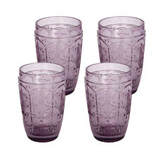 4 Pc Set Old Fashion glass Elegant Barware and Drinkware Purple
