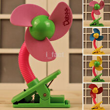 Hot Infant Stroller Clip-On Mini Fan Safe Portable USB & Battery Operated Random