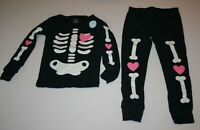 NEW Carter's Girls Halloween Glow in Dark Skeleton PJs NWT 3t 4T 5T 6 7 8 10 12