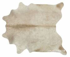 Champagne Brazilian Cowhide Rug Cow Hide Area Rugs Skin Leather Size XL