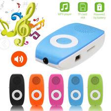Clip USB MP3 Player Support SD TF Card 32GB Sport Music Media Built-in Speaker f