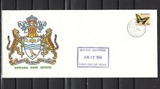 Guyana, Scott cat. 1455. Butterfly value o/printed CARICOM. First day cover