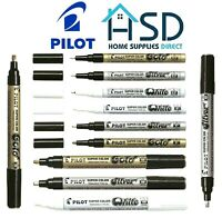 Pilot Super Color Marker Pen Metallic Paint Colour Gold Silver White Ink Pens