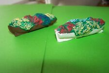 oo gauge four old rowing boat flower beds painted.