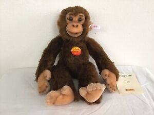 "Vintage large 35 cm Steiff Jocko monkey, 14"" Glass eyes tags~Limited Edition"