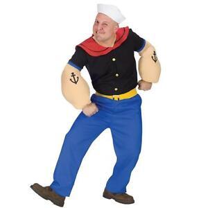 Popeye Mens Adult Fancy Dress Costume - One Size