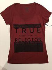 TRUE RELIGION WOMEN WORLD TOUR CRYSTAL GRAPHIC TSHIRT SULPHUR RED VNK NWT XS $70