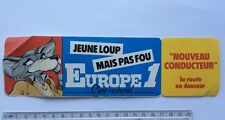 Autocollant Radio EUROPE 1 Jeune Loup Nouveau Conducteur