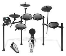 Achtteiliges elektronisches Schlagzeug mit Mesh Heads & viel Zubehör, Schwarz