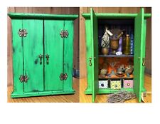 Apothecary Herb Cabinet Cupboard Handmade in Appalachia Repurposed Materials