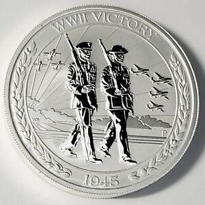 2020 P Australia $2 Dollar 2oz .9999 Fine Silver 1945 WWII Victory Coin