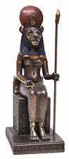 Veronese Bronze Figurine Egyptian Sekhmet sitting Statue Sachmis Sakhet Sekhet