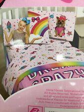 JOJO siwa rainbow Full Bedding Bow & Comforter & Sheets 5PC Set NEW bed bag