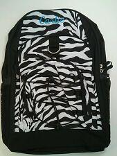 Pottery Barn PB Teen Black White Zebra Gear Up Large Backpack name CARLIE New!