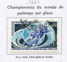 TIMBRE FRANCE OBLITERE N° 1665 PATINAGE ARTISTIQUE